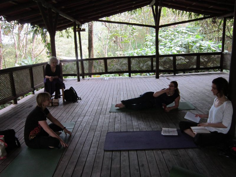 Karen teaching in Costa Rica retreat